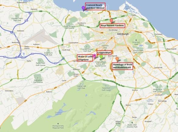 mapa de EN Edimburgo